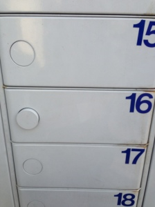 Once I'd put my code in, the button for Locker 16 popped out, so I went to investigate...
